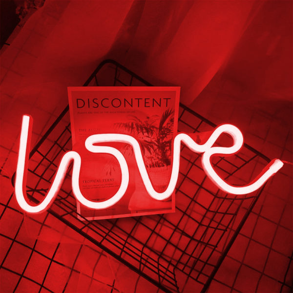 red love led neon sign